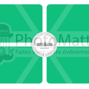 Thème photobooth borne photo selfie photomatt logo simple classique multicolor entreprise professionnel CE comité d'entreprise
