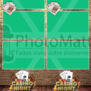 Thème photobooth borne photo selfie photomatt casino night bois mur cartes