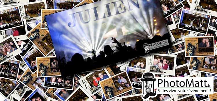 Photobooth pour l'anniversaire (18 ans) de Julien