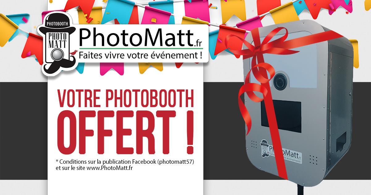Participez à notre tirage au sort sur Facebook pour gagner un Photobooth par PhotoMatt !